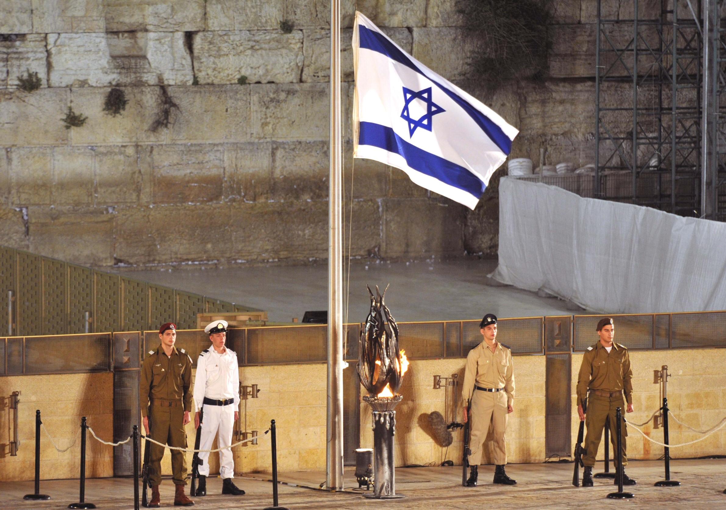 Jerusalém,Yom-Hazikaron en el Kotel