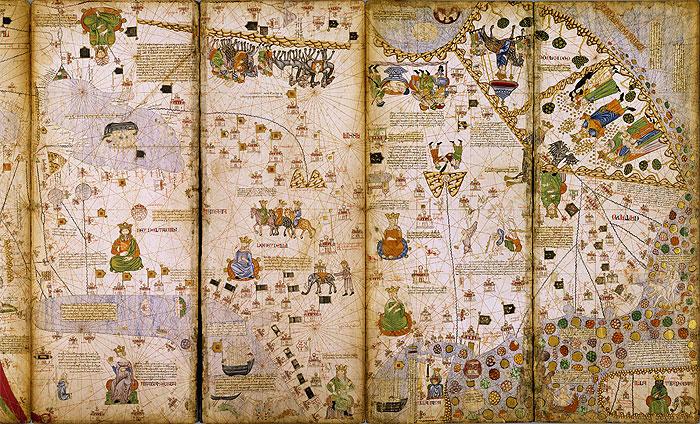 Atlas realizado por Abraham Cresques en 1375