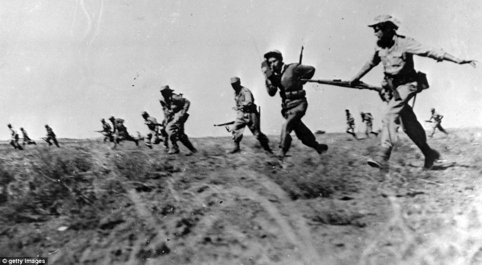 Luchando contra la Legión árabe