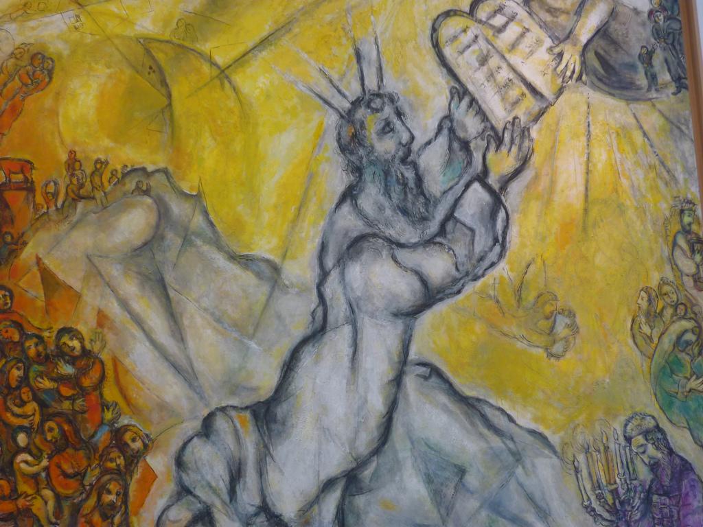 Moshé recibiendo Las Tablas de la Ley, Chagall, Museo de Niza