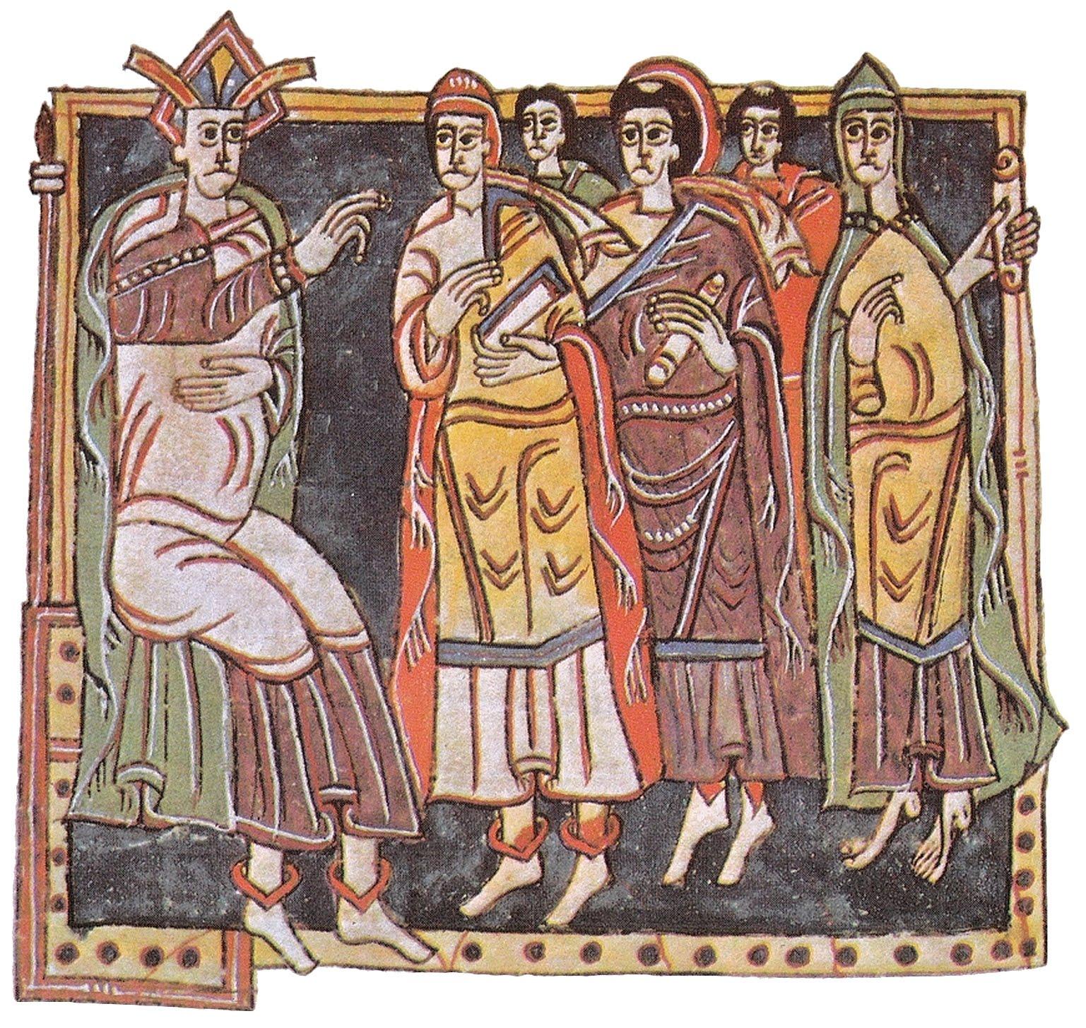 Concilio de Toledo, representación medieval
