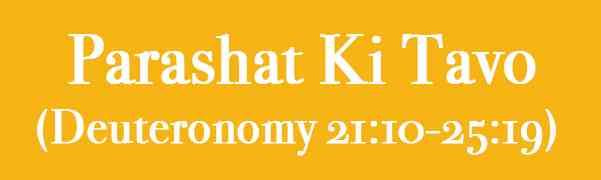 Parashat Ki tavó, comentario de la rabina Silvina Chemen